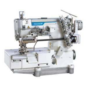 Flatbed Interlock Sewing Machine for Elastic Lace with Edge Trimming pictures & photos