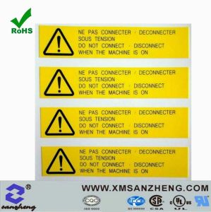 Clear PU Resin Sticky Weather Resistant Colorful Safety Warning Labels (SZ3078) pictures & photos
