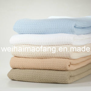 Cellular Woven Waffle Pure Cotton Blanket pictures & photos