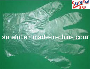 0.4grams Disposable Embossed Plastic Gloves pictures & photos