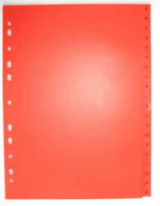 20 Pages Red Color PP Index Divider With English Printed (BJ-9028) pictures & photos