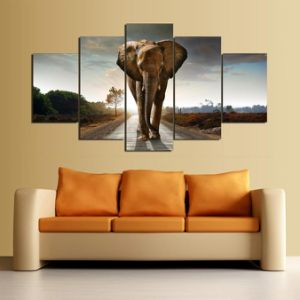 HD Printed Elephant Printed Painting on Canvas Decoration Print Poster Picture Canvas Framed Mc-095 pictures & photos