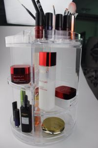 Cosmetic Carousel Display Storage Makeup Organizer 360 Degree Rotating Holder pictures & photos