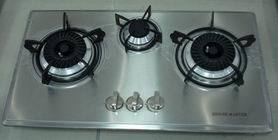 Stainless Steel Three Burner Gas Hob (B58)