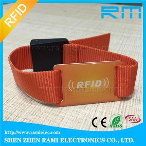 125kHz&13.56MHz Smart RFID NFC Silicone Wristband/Bracelet with Printing
