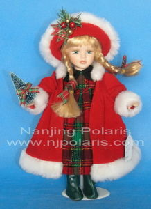 "12"" Porcelain Christmas Doll (B016)"