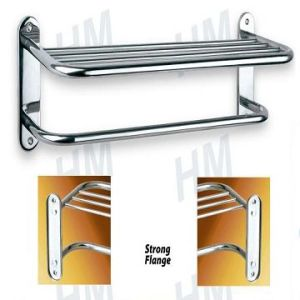 Stainless Steel Towel Shelf with Bar (HM-1918) pictures & photos