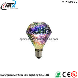 Popular seller LED bulb in 3D fireworks shape A60 G80 95 G125 color ball LED light bulb pictures & photos