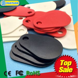 13.56MHz ISO14443A MIFARE Classic EV1 passive overmolded glassfiber RFID keyfob tag for harsh environment pictures & photos