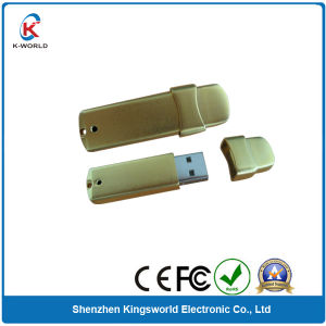 Professional 4GB Golden Metal Stick USB Flash Drive (KW-0410) pictures & photos