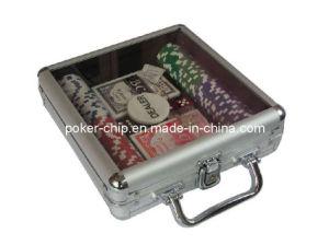 100PCS Poker Chip Set in Transparent Cover Aluminum Case (SY-S10) pictures & photos