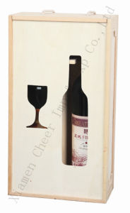 Window-Show Round Wooden Wine Box Mh16-024j pictures & photos