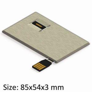 USB Credit Drive with Full Aluminum Shell & Fingerprint Verify (UF164-VB)