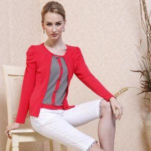 Fashion Ladies′ Striped Blouse 11s196