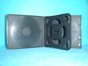 PP DVD Case DVD Box DVD Cover 10.4mm for 4 Discs Black (YP-P400)