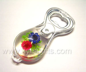 Real Flower Magnet Crystal Bottle Opener