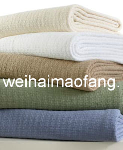 Waffle Weave 100%Cotton Hotel Blanket pictures & photos