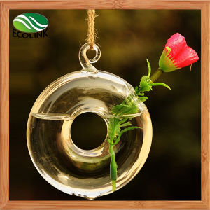 Hanging Round Glass Vase for Home Decoration pictures & photos