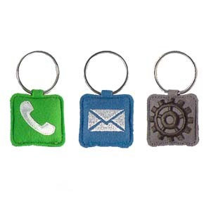 Embroidered Key Rings - Fun APP pictures & photos
