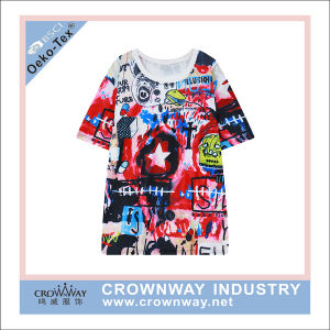 100% Polyester Sublimation T Shirt pictures & photos
