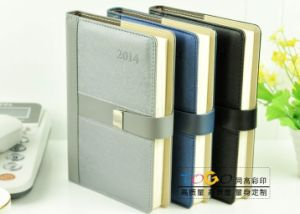 Excutive Notebook Calendar Book with Magnetic Hook pictures & photos