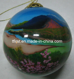 Painted Inside Christmas Ball (Fld08-18)