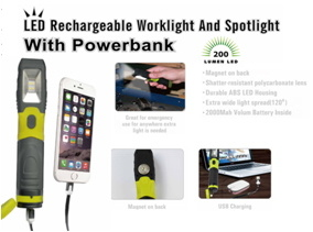 Rechargeable Work Light with Power Bank pictures & photos