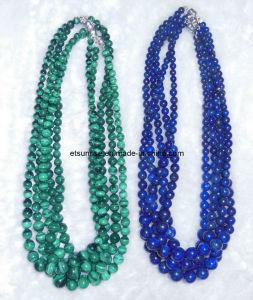 Fashion Natural Gemstone Lapis Malachite Graduated Necklace pictures & photos