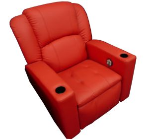 Cinema Seat Real Leather Electric Reclining Theatre Sofa Cinema Chair (VIP 3) pictures & photos