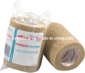 Self Adhering Non Woven Cohesive Elastic Bandage pictures & photos