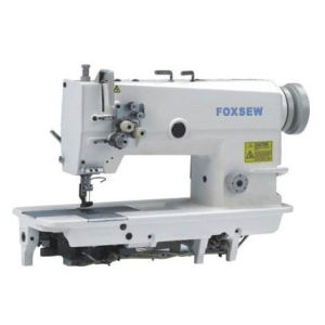 Fixed Needle Bar Double Needle Lockstitch Sewing Machine pictures & photos