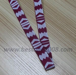 High Quality Polyester Jacquard Webbing for Bag (#1312-8) pictures & photos