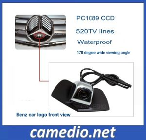 Wide Viewing Angle CCD Car Logo Front View Camera for Benz Series pictures & photos