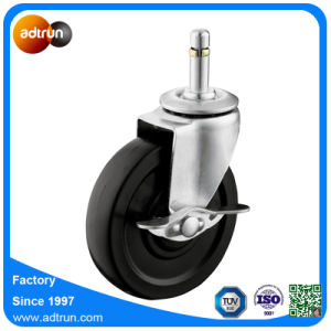 75kg Load Capacity 4inch Stem Caster Rubber Wheel with Brake pictures & photos