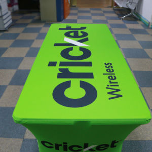 Custom Colour Logo Knitted Polyester Table Cloth, Table Cover pictures & photos