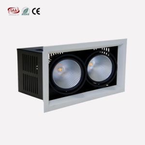 Innovative Design Double Heads LED Grille Lamp 2*12W Warm White COB LED Downlight for Home pictures & photos