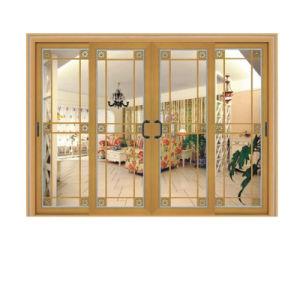 Elegant Rosewood Aluminum Sliding Door for Bedroom pictures & photos