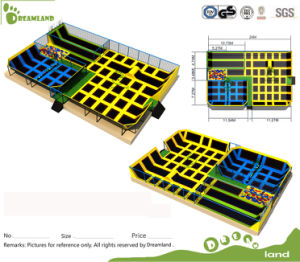 The Walls Sky Zone Trampoline Park Manufacturer Commercial Adults Indoor Trampoline Park pictures & photos
