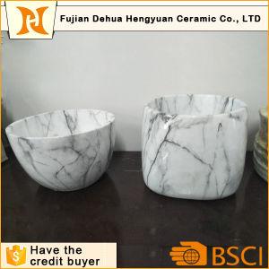 Water Transfer Printing Style Ceramic Bonsai Pot pictures & photos