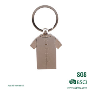 Custom Engrave Logo Leather Key Holder with Metal Ring (KC-222) pictures & photos