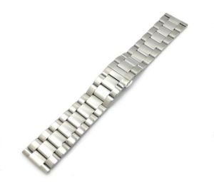 High Quality Metal Watch Band Strap 3 Beads Solid Stainless Steel Bracelet Men&Women Deployment Watchband pictures & photos