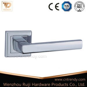 Hollow out Zinc Alloy Door Lever Handle on Round Rosette (Z6157-ZR09) pictures & photos