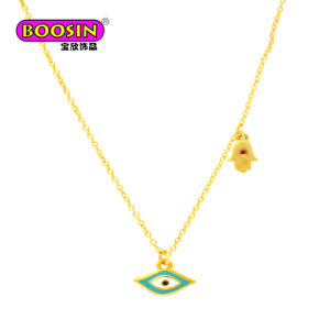 2018 DIY Jewelry Enamel Hamsa Hand & Cross Charm Pendant Fashion Necklace pictures & photos