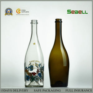 187ml Wine Glass Bottle in Green Color with Bvs Top (NA-024) pictures & photos