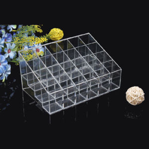 Luxury Table Desk Standing Cheap 24 Slots Acrylic Lipstick Makeup Organizer pictures & photos