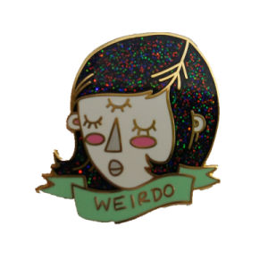 Custom Logo Gold Hard Enamel Glitter Pin for Promotion Gifts pictures & photos