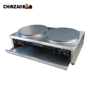 Double Commercial Electric Crepe Maker Machine with Ce Approval pictures & photos