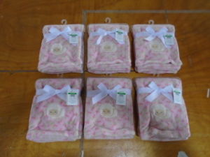 Wholesale Polar Fleece Baby Blanket with embroidery pictures & photos