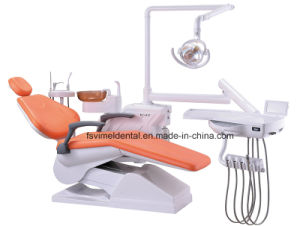 Hot Sale Dental Unit with Movable Glass Spitton pictures & photos