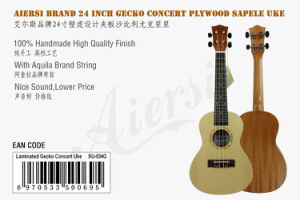 Factory Price 24 Inch Spruce Top Gecko Ukulele for Sale pictures & photos